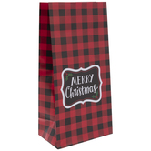 Red & Black Buffalo Check Merry ChristmasGift Sacks
