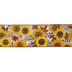 Sunflower Burlap Wired Edge Ribbon - 2 1/2