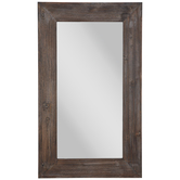 Brown Wood Wall Mirror