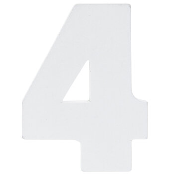 """White Wood Numbers 4 - 2"""""""