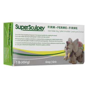 Gray Super Sculpey Firm Clay