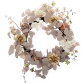 Cream Hydrangea & Orange Gourd Wreath
