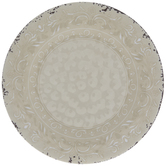 Antique White Scroll Plate