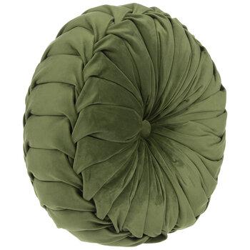 Green Velvet Round Pillow
