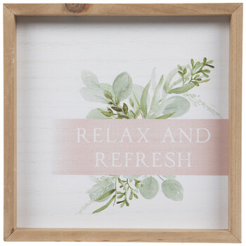 Relax & Refresh Wood Wall Decor