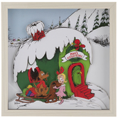Dr. Seuss Max's Sleigh Rides Framed Wall Decor