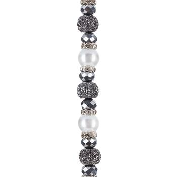 Glass Pearl & Crystal Bead Strand
