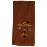 Autumn Leaves & Pumpkins Please Kitchen Towel