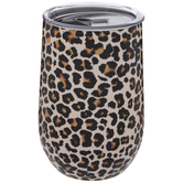 Leopard Print Stainless Steel Vacuum Cup