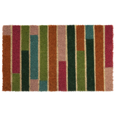 Pink, Orange & Green Striped Doormat