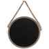 Natural Beaded Round Chalkboard Wood Wall Decor