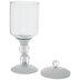 White Glass Pedestal Jar - Large