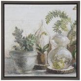 Terrarium Plants Canvas Wall Decor