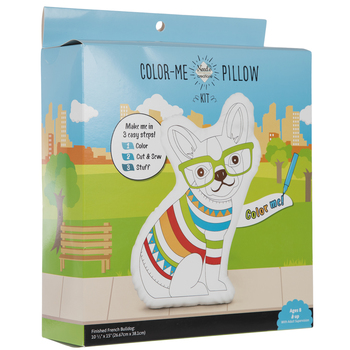 French Bulldog Color Me Pillow Kit