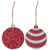 Red & Silver Ornament Gift Tags