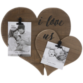 Hearts Wood Clip Collage Frame