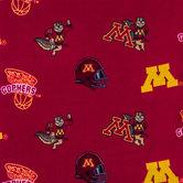Minnesota Allover Collegiate Fleece Fabric