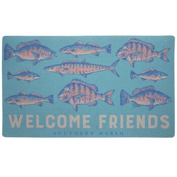 Welcome Friends Southern Marsh Fish Doormat