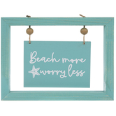 Beach More Worry Less Sign Wood Decor