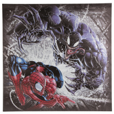 Venom & Spider-man Metallic Canvas Wall Decor