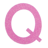 "Glitter Wood Letter Q - 4"""
