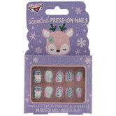 Vanilla Scented Christmas Press-On Nails
