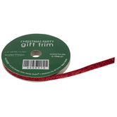 Metallic Red Velvet Gift Trim