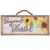 Beyond Blessed Sunflower Wood Wall Decor