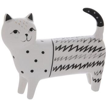 White & Black Striped Cat