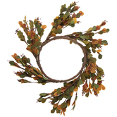Orange & Green Leaf Candle Ring