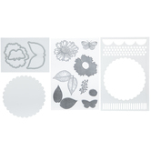 Country Flowers Stencils, Dies & Clear Stamps