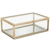 Gold Edged Glass Box