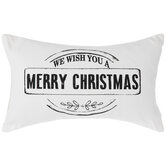 We Wish You A Merry Christmas Canvas Pillow