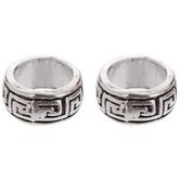 Greek Key Ring Metal Beads - 10mm