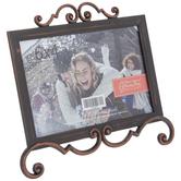 "Antique Copper Scroll Metal Frame - 6"" x 4"""