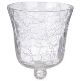 Crackled Glass Peg Candle Holder Cup