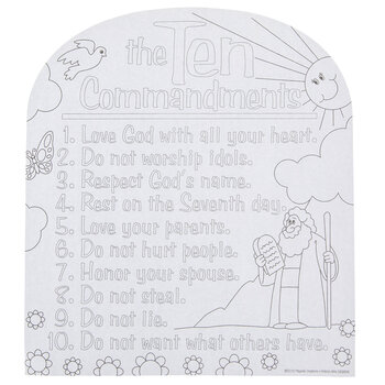 Ten Commandments Coloring Sheets