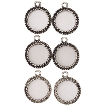 Round Picture Frame Charms