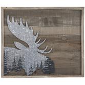 Moose Head Wood Wall Decor