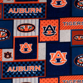 Auburn Block Collegiate Fleece Fabric