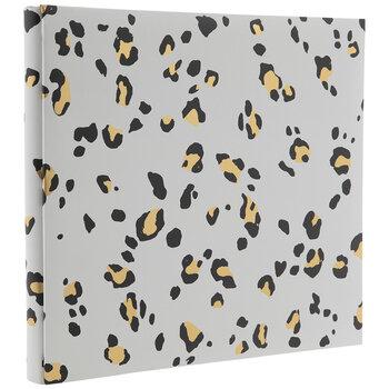 """White & Gold Leopard Post Bound Scrapbook Album - 12"""" x 12"""""""