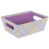 Pastel Gingham & Striped Box