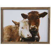 Two Cows Wood Wall Decor