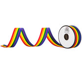 Rainbow Striped Grosgrain Ribbon - 7/8""