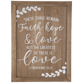 1 Corinthians 13:13 Wood Decor