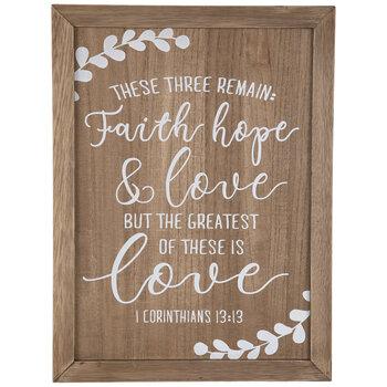 1 Corinthians 13:13 Wood Decor