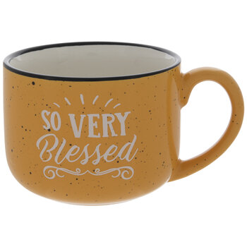 So Very Blessed Yellow Speckled Mug