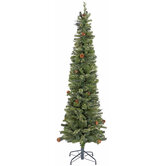 Ultra Slim Cashmere Bristol Pine Pre-Lit Christmas Tree - 7'