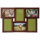 Walnut Wood Collage Wall Frame