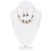 Bejeweled Cluster Necklace & Earrings